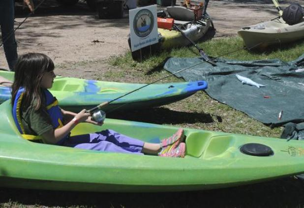 In 2015 one of the day camps featured tips on kayaking, including fishing from one of the aquatic crafts.